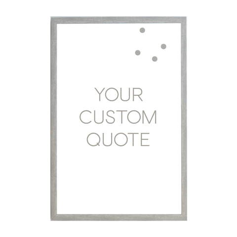 Custom Quote, Name, Letters, or Initials in Font 2