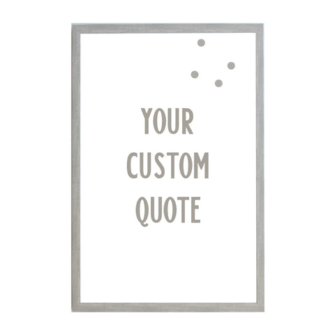 Custom Quote, Name, Letters, or Initials in Font 9