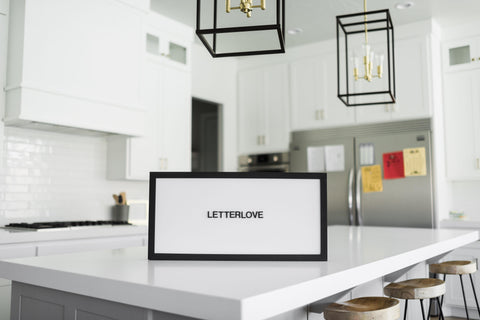 Magnetic Letter Board - White + Ebony