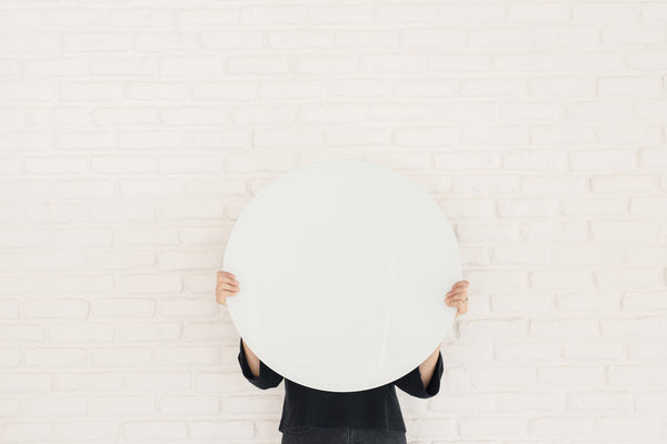Glass Magnetic White Circle Dry Erase Board
