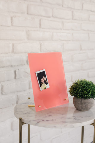 Glass Magnetic Sunny Coral Dry Erase Board