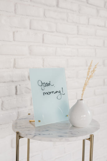 Glass Magnetic Paris Blue Dry Erase Board