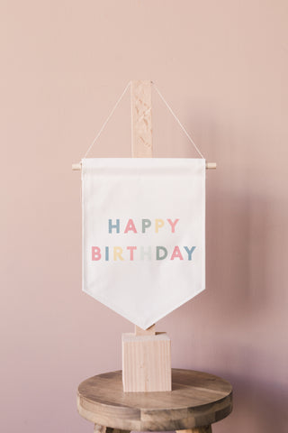 bannerlove Happy Birthday Colorful Hanging Banner