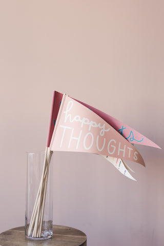 bannerlove Happy Thoughts Pendant Banner