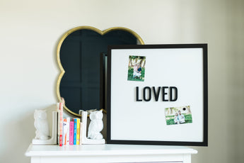 Petal Lane Home Ebony Loved Square Magnet Board