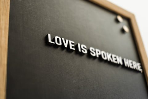 Chalkboard Love Is Spoken Here