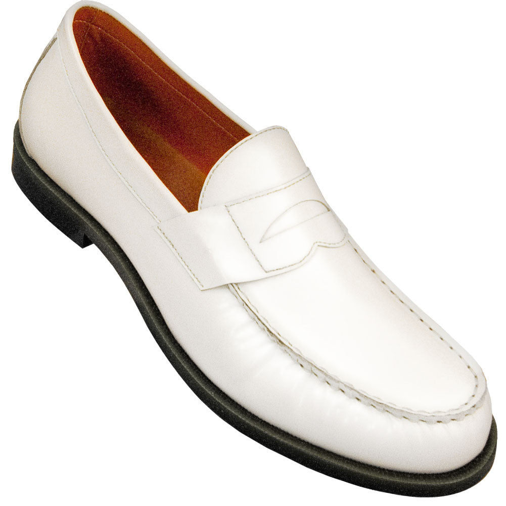 Aris Allen Men's White Dance Loafers, dancestore.com