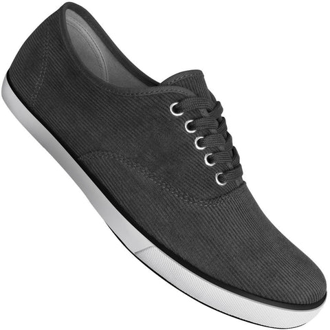 Aris Allen Men's Grey Classic Corduroy Dance Sneakers