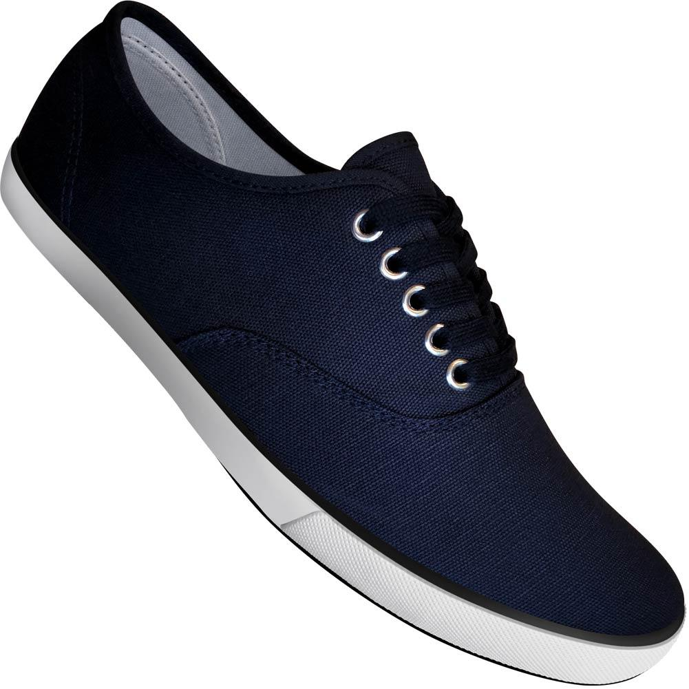 Aris Allen Men's Navy Blue Classic Canvas Dance Sneakers