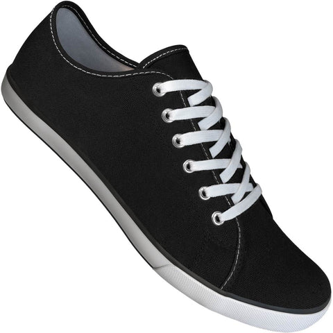 Aris Allen Men's Black Canvas Gym Style Dance Sneakers