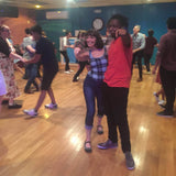 Couple Lindy Hop Dancing in Aris Allens flats wingtips at Frim Fram