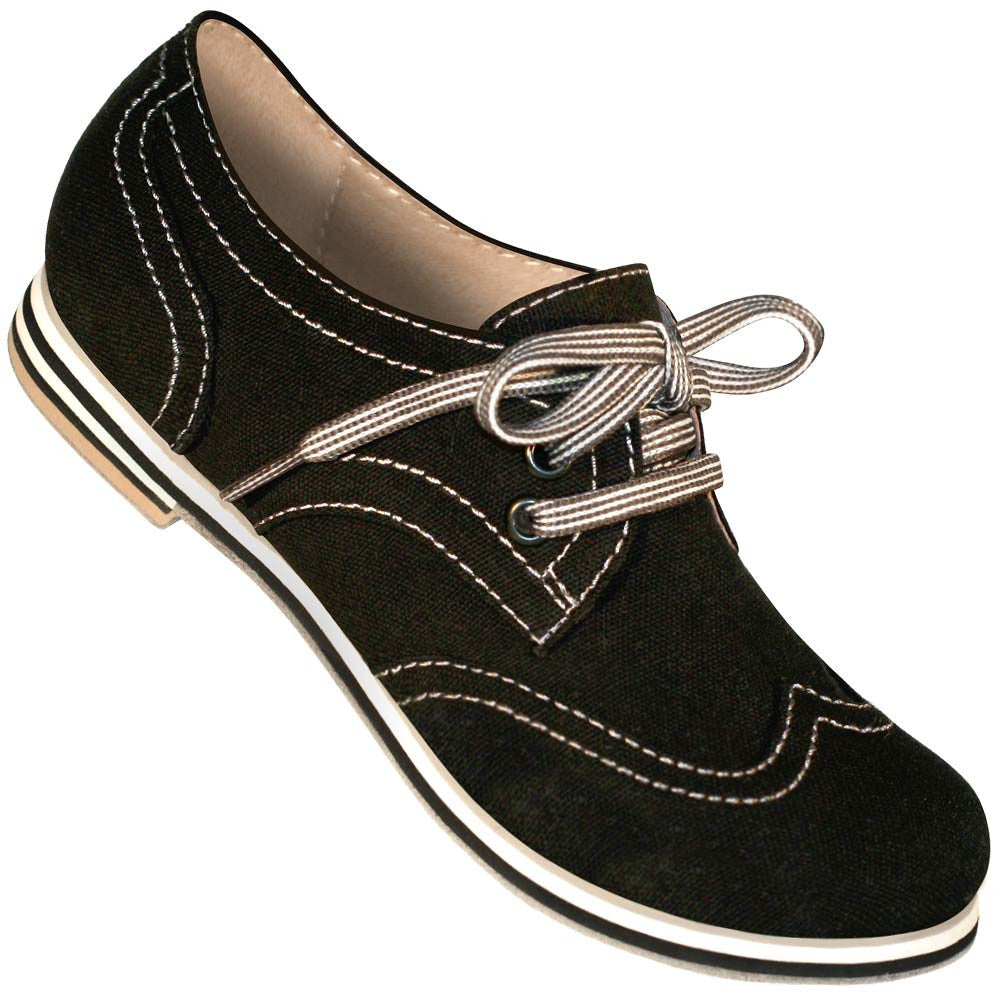 Aris Allen Women's Black Canvas Wingtip Dance Shoes - *Limited Sizes*