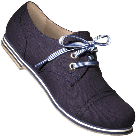 Aris Allen Women's Navy Blue Canvas Captoe Dance Shoes