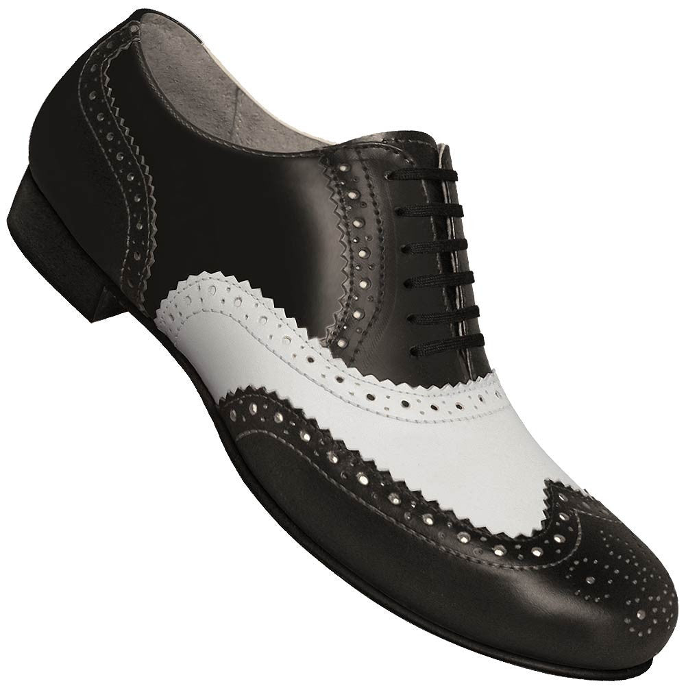 cab0663e8cc9 Aris Allen Men s 1930s Black and White Spectator Wingtip Dance Shoe