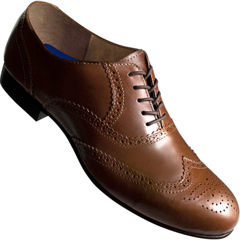 Aris Allen Men's 1946 Brown Wingtip Dance Shoes