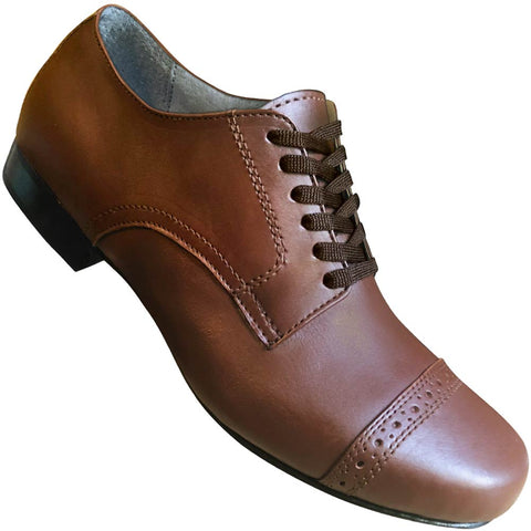 Aris Allen Men's 1930s Cognac Captoe Dance Shoe