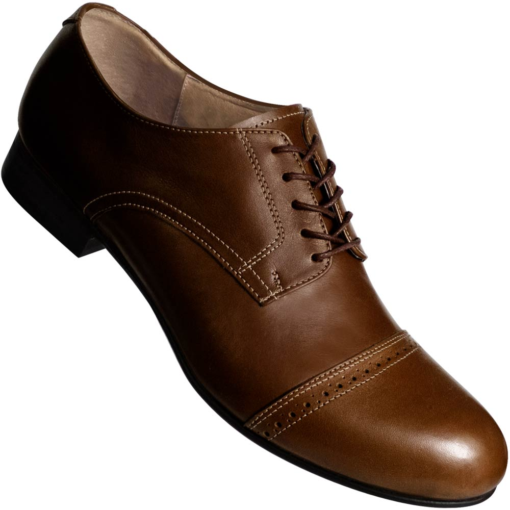 Aris Allen Men's 1932 Brown Captoe Swing Dance Shoes