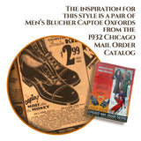 Chicago Mail Order Catalog 1932 Men's Black Captoe Shoes