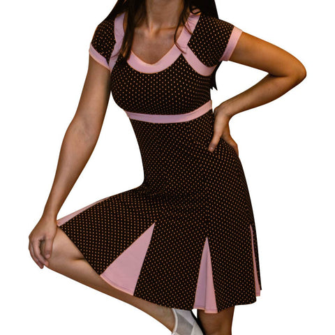 Brown and Pink Cheerleader Dress - CLEARANCE - *Limited Sizes*