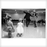 Black and White Grandfather and grandkids dance Aris Allen White Wingtips