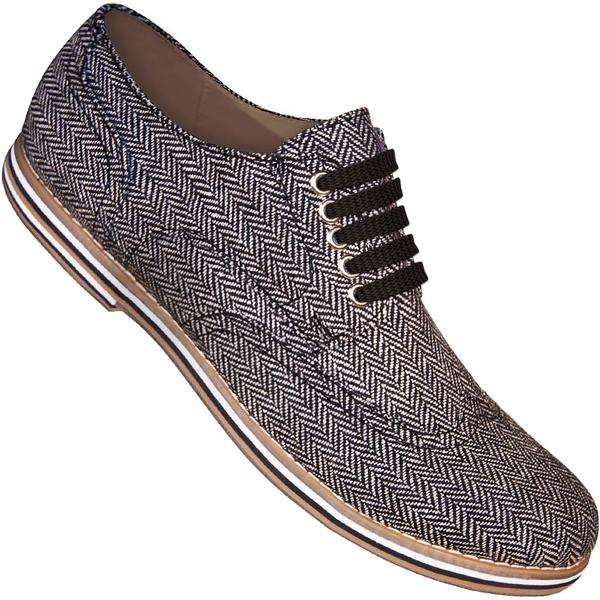 Aris Allen Men's Herringbone Canvas Wingtip Dance Shoes