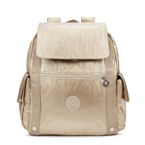 Gideon Large Metallic Backpack - Champagne Metallic