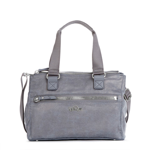 New Tarah Handbag - Gilded Silver Leaf Metallic