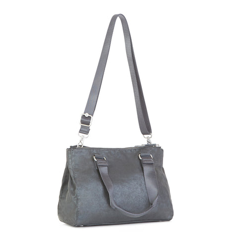 New Tarah Handbag - Gilded Grey Metallic