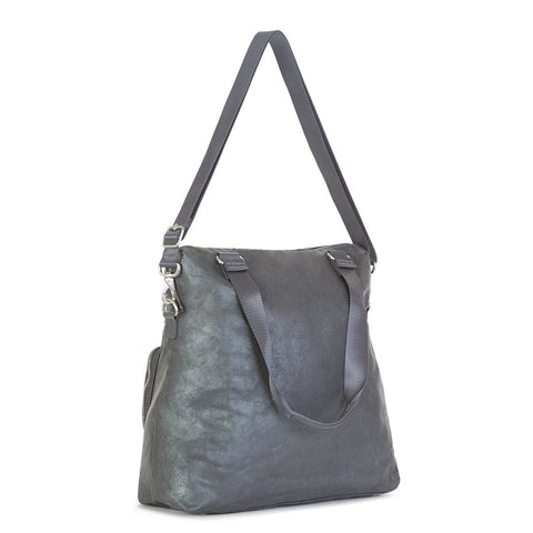 New Camryn Laptop Handbag - Gilded Grey Metallic