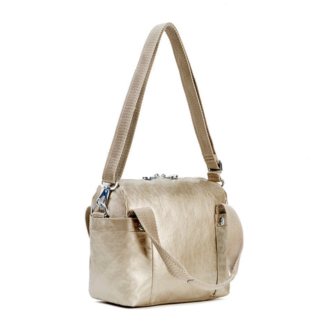 Abby Metallic Handbag - Champagne Metallic