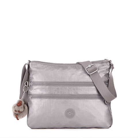 Alvar Crossbody Bag - Metallic Pewter
