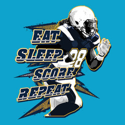 MELVIN GORDON EAT SLEEP SCORE REPEAT