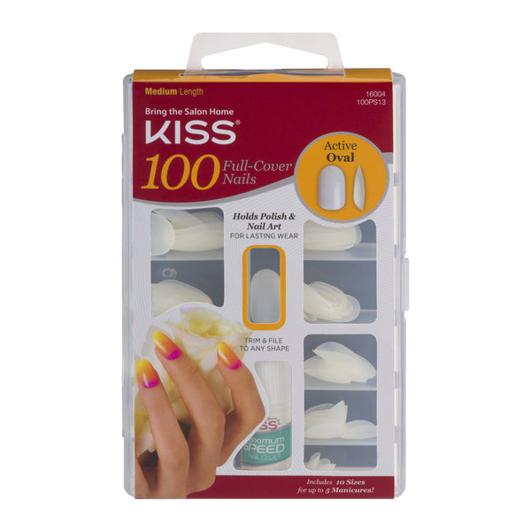 KISS - 100 Nails Active Oval