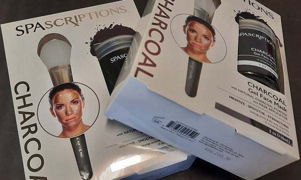 Damaged Packaging - Spascriptions: Charcoal Gel Face Mask with applicator
