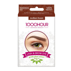 1000 Hour Brow Dye (Gentle Plant Extract) - Medium Brown