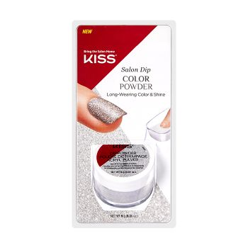 KISS - Salon Dip Powder (Sparkly Silver)