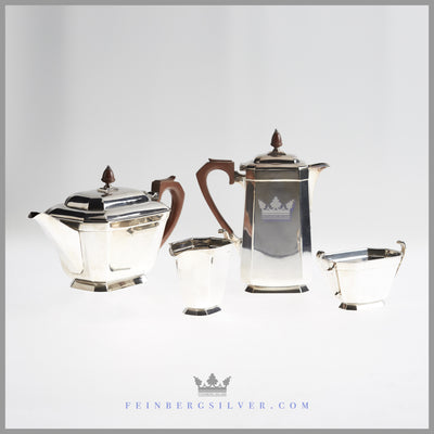 Antique English Silver Art Deco Tea & Coffee Service | Feinberg Silver