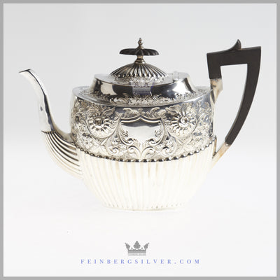 Antique English Sterling Silver 4 Pc Tea and Coffee Service | Feinberg Silver