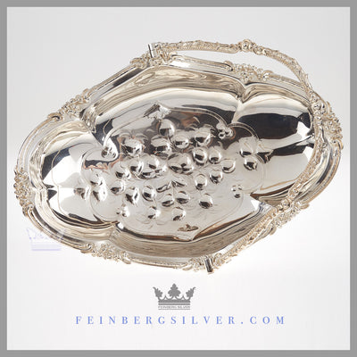 Antique Victorian Basket Silver Plated EPNS For Sale | Feinberg Silver