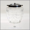 Silverplate & Crystal Biscuit  Barrel - c. 1880 | Garlands