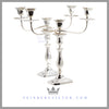 Antique Sterling Silver Candelabra Old Sheffield Plated 3 Light Candelabra Feinberg silver