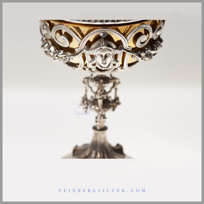 Antique English Silver Plate Cup & Cover - circa 1850 | Ecclesiastic | John Sherwood