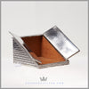Antique Silver Plated Storm Cellar Cigarette Box - c. 1880 | Cast | Derby