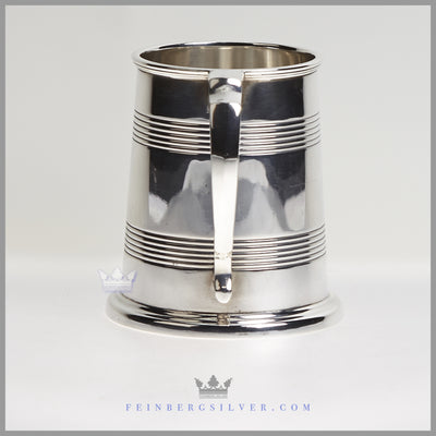 Antique English Silver Plated Tankard/Cann - circa 1935 | Atkins Brothers