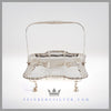 Feinberg Silver - The English silver plated oblong basket has slightly indented sides. Its gadroon border has a center that is hand engraved with an oblong shield of gadroon design and leaf.