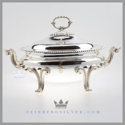 Early Antique English Silver Plated Soup Tureen c. 1845 | Thomas Prime