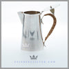Wicker Handled Silver Jug c. 1910 | Silverplate
