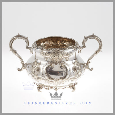 Feinberg Silver - Early English silver plated Louis XVI style 3 piece teaset by the Mappin Brothers. The set is epgs (electroplated German silver - an early base metal in the history of silver plating).