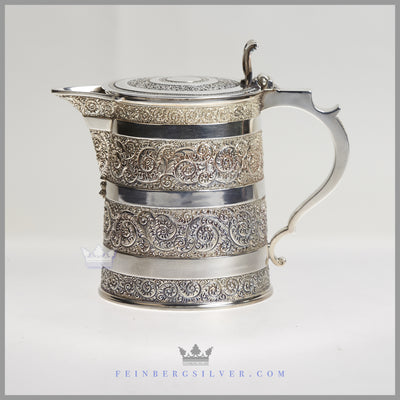 Martin Hall Company Beer Mug or Jug Silver Plated EPNS Antique Victorian For Sale | Feinberg Silver
