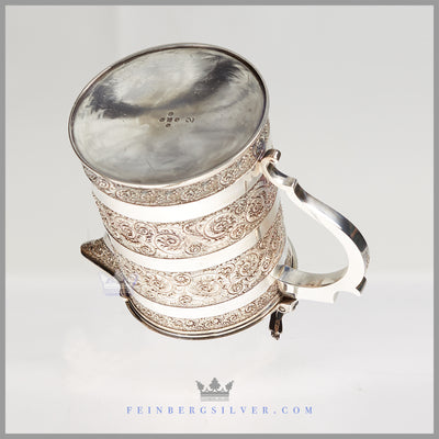 Very Fine English Silver Plated Beer Jug | Hand Chased | Martin Hall